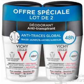 VICHY HOM DEO 48H ANTI TRACE BILLE 2E-50% DUO 2X 50 ML
