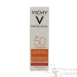 VICHY IDEAL SOLEIL Anti Age  Soin anti oxydant 3 en 1 SPF50 50 ML