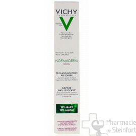 VICHY NORMADERM S.O.S PÂTE ANTI-BOUTONS AU SOUFRE  20ml
