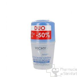 VICHY DEO MINERAL 48H  sans sel d'aluminium ROLLER DUO 2x50 ML