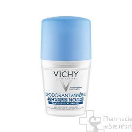 VICHY DEO MINERAL 48H sans sel d'aluminium ROLLER 50 ML