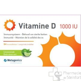 VITAMINE D 1000 U METAGENICS 84 COMPRIMES