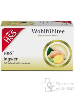 H+S WOHLFUEHLTEE gingembre 20 SACHETS  NR95