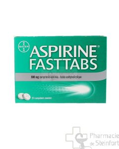 ASPIRINE FASTTAPS 500 MG 20 COMPRIMES