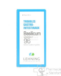 BASILICUM TROUBLES GASTRO INTESTINAUX COMPLEXE 96 LEHNING GOUTTES 30 ML