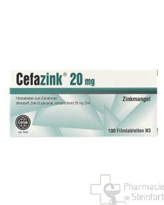 CEFAZINK 20 MG 100 COMPRIMES