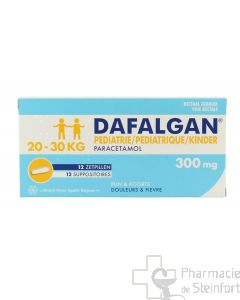 DAFALGAN GRAND ENFANT 300 MG 12 SUPPOSITOIRES