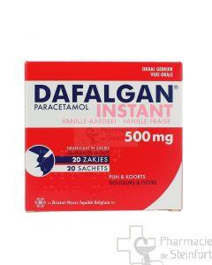 DAFALGAN INSTANT VANILLE / FRAISE 500MG 20 SACHETS