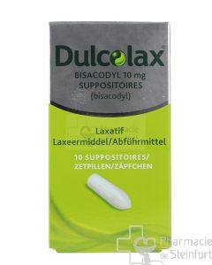 DULCOLAX BISACODYL 10 MG 10 SUPPOSITOIRES