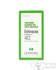 ECHINACEA TRAITEMENT ADJUVANT DES ETATS INFECTIEUX COMPLEXE 40 LEHNING GOUTTES 30 ML