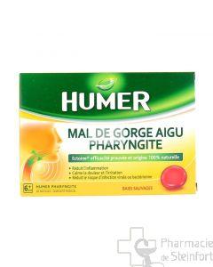 HUMER PHARYNGITE Mal De Gorge Aigu 20 PASTILLES