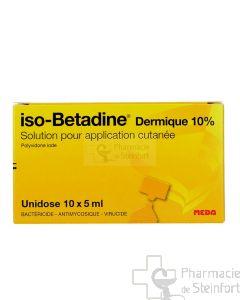ISOBETADINE DERMIQUE 10% SOLUTION UNI DOSE 10X 5 ML
