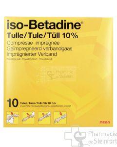 ISOBETADINE TULLE 10% 10X 10 CM 10 COMPRESSES