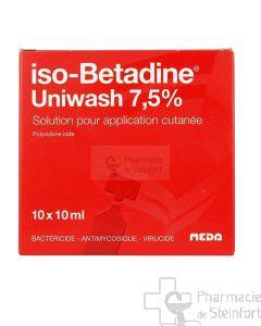 ISOBETADINE UNIWASH 7,5% 10 X 10ML FLACONS UNI DOSE