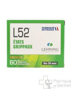 L52 LEHNING ETATS GRIPPAUX 60 Comprimés