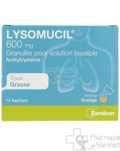 LYSOMUCIL 600 MG 14 SACHETS