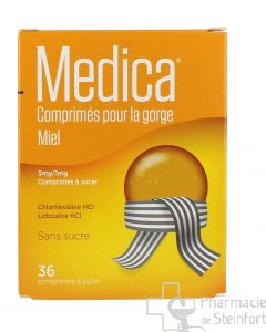 MEDICA MIEL GORGE 36 COMPRIMES A SUCER