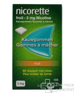 NICORETTE FRUIT 2 MG 105 GOMMES