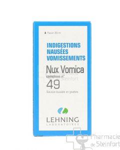 NUX VOMICA INDIGESTION NAUSEES VOMISSEMENT COMPLEXE 49 LEHNING GOUTTES 30 ML