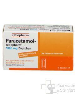 PARACETAMOL RATIO 1 G 10 SUPPOSITOIRES