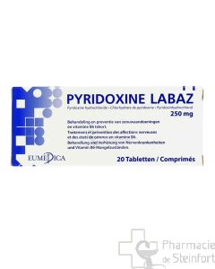 PYRIDOXINE 250 MG 20 COMPRIMES