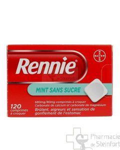 RENNIE SANS SUCRE MENTHE 120 PASTILLES