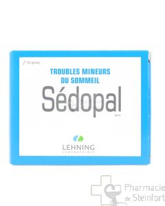 SEDOPAL TROUBLES MINEURS DU SOMMEIL LEHNING 40 CAPSULES