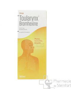 TOULARYNX BROMHEXINE 5mg/5ml FRAMBOISE SANS SUCRE SIROP 180 ML